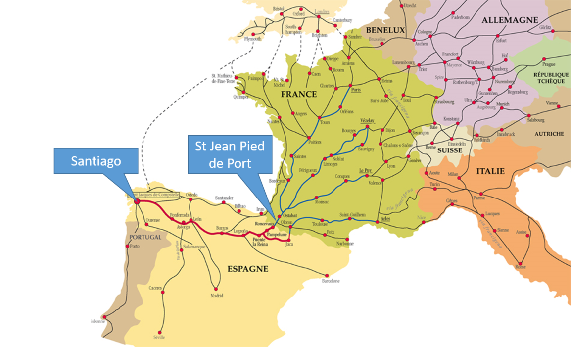 routes of the camino
